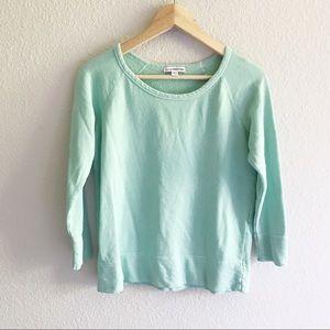 James Perse mint green lightweight sweatshirt